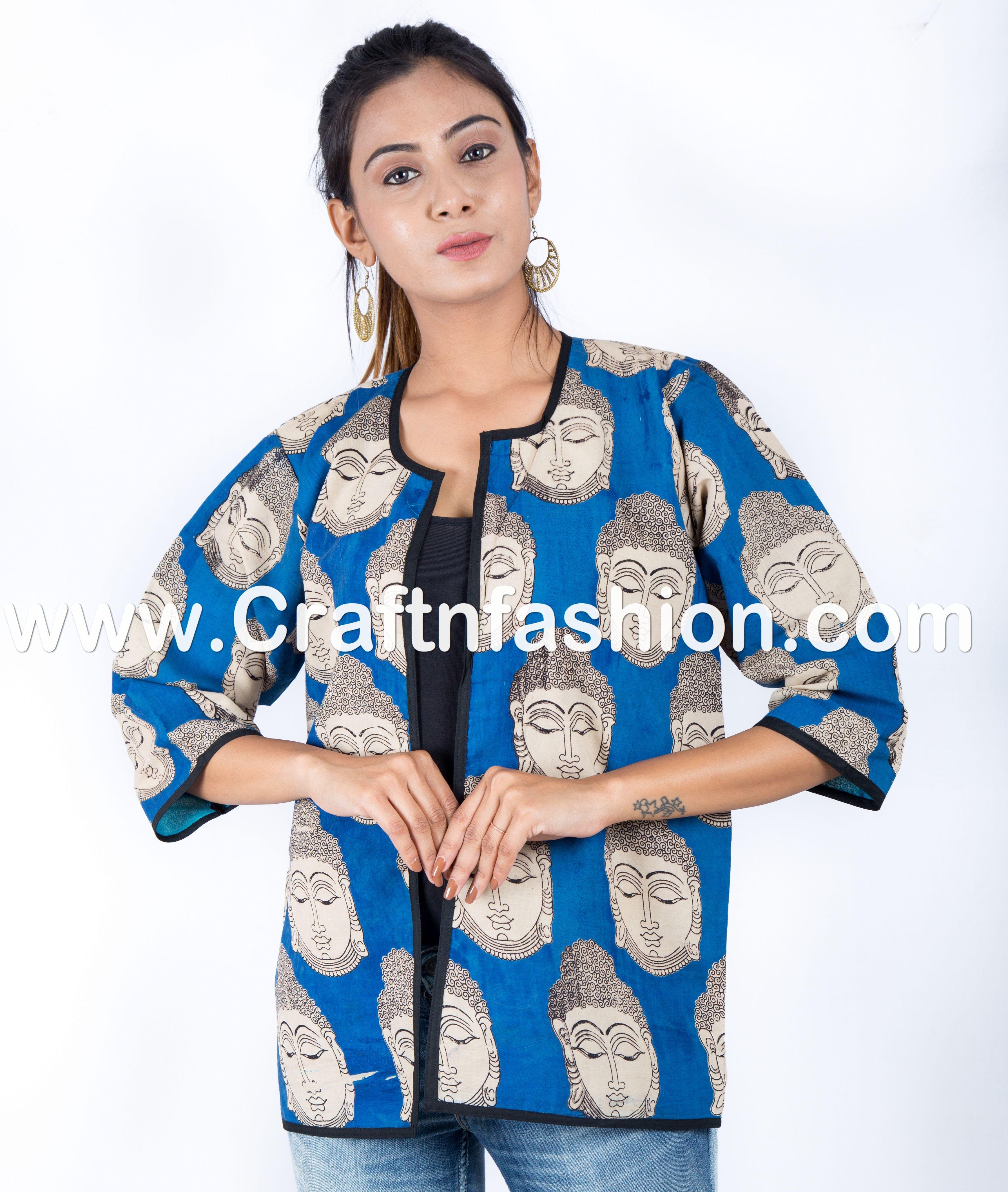 57202efb9 Kalamkari Print Buddha Style Gypsy-Banjara Boho Hippie-Indian Fashion  Wear-Tribal Designer Jacket