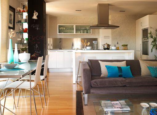 Salón, comedor y cocina integrados | Decoratrix | Decoración ...