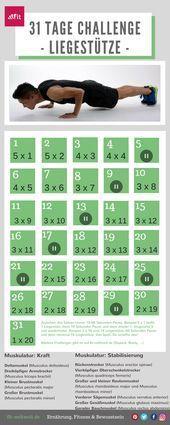 Fitness: 31 Tage Liegestütz Challenge für Frauen und Männer (Push Up für Anfänger)  #LIEGESTÜTZE #CH...