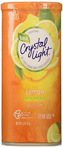 Crystal Light Decaf Iced Tea Drink Mix Natural Lemon Flavor 12quart 15ounce Packages Pack Of 4 Details Can Be Fo Peach Ice Tea Iced Tea Drinks Drinking Tea