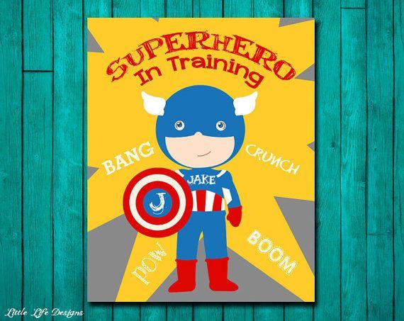 Superhero In Training. Superhero Bedroom Decor. Personalized ...