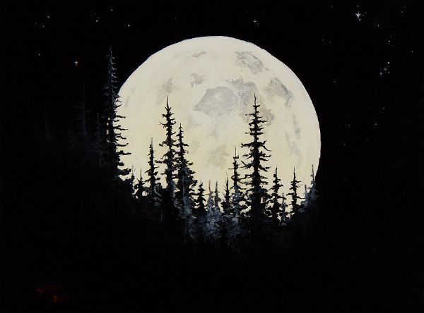 How To Paint A Moon On A Wall - Google Search (With Images) Bob