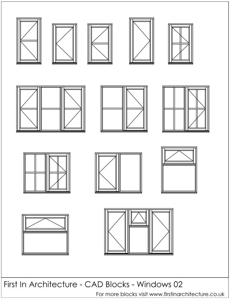 Free Cad Blocks Windows 02 Humaniza O Representa O Grafica E  -> Blocos Cad Sala De Estar