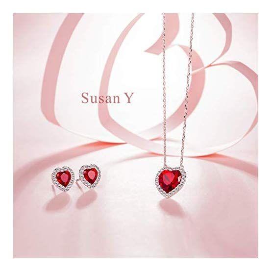 1b1d5292fef7 Susan Y Pasion Juego de Joyas Mujer Collar Pendientes con Cristales ...