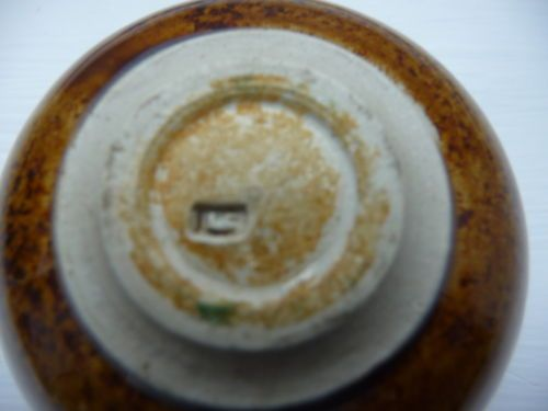 Len Castle Glazed Lidded Trinket Medicine Pot Lc Mark