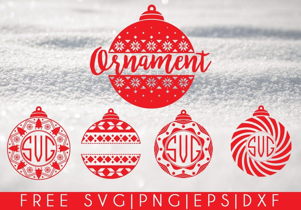 Christmas Ornaments Free SVG, PNG, DXF, EPS Download
