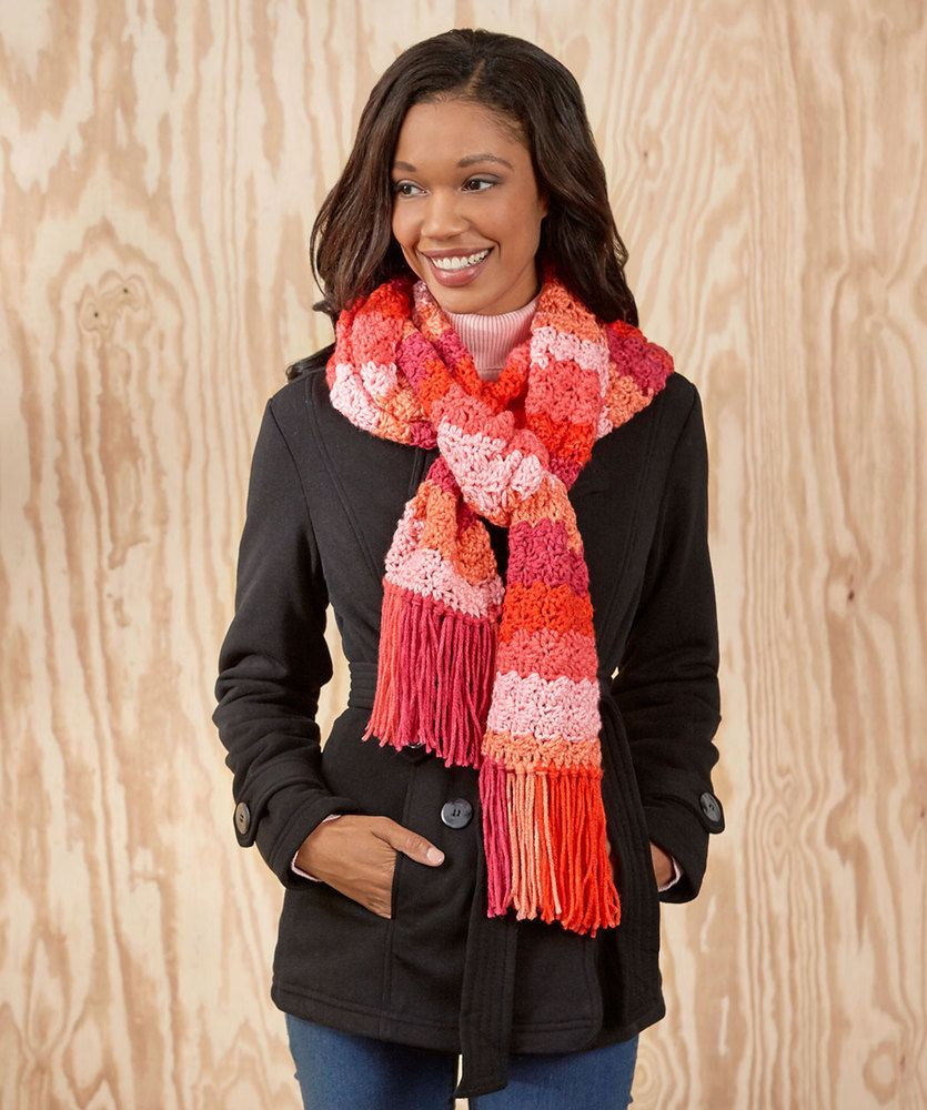 Snazzy Striped Scarf - Beginner | Free Crochet - Afghans, Squares ...