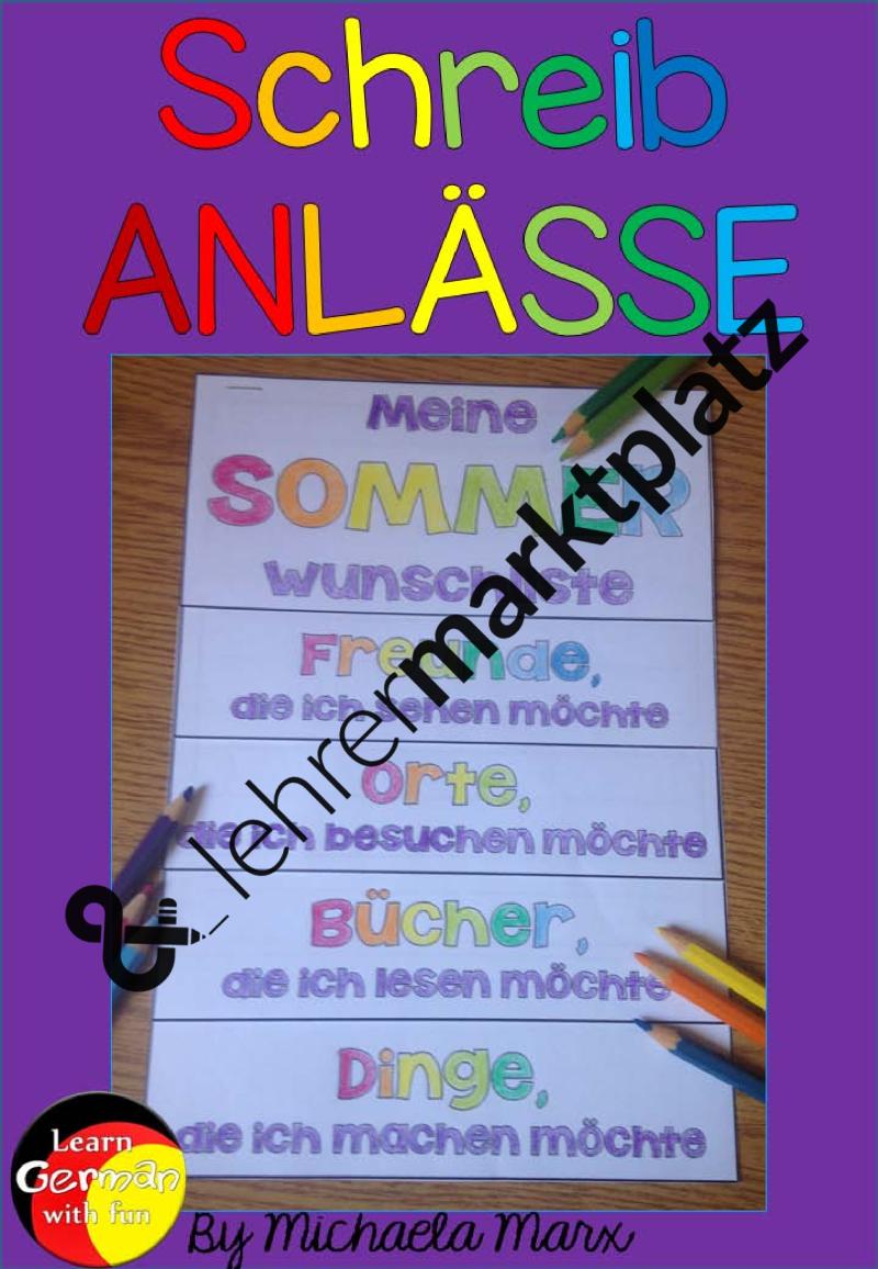 Flipbook- Wünsche für die Sommerferien – DaZ / DaF, Deutsch ...