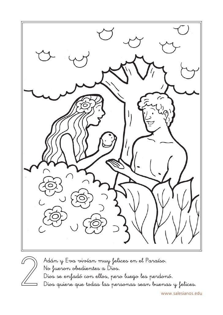 2 Adán y Eva vivían muy felices en el Paraíso. No fueron obedientes ...