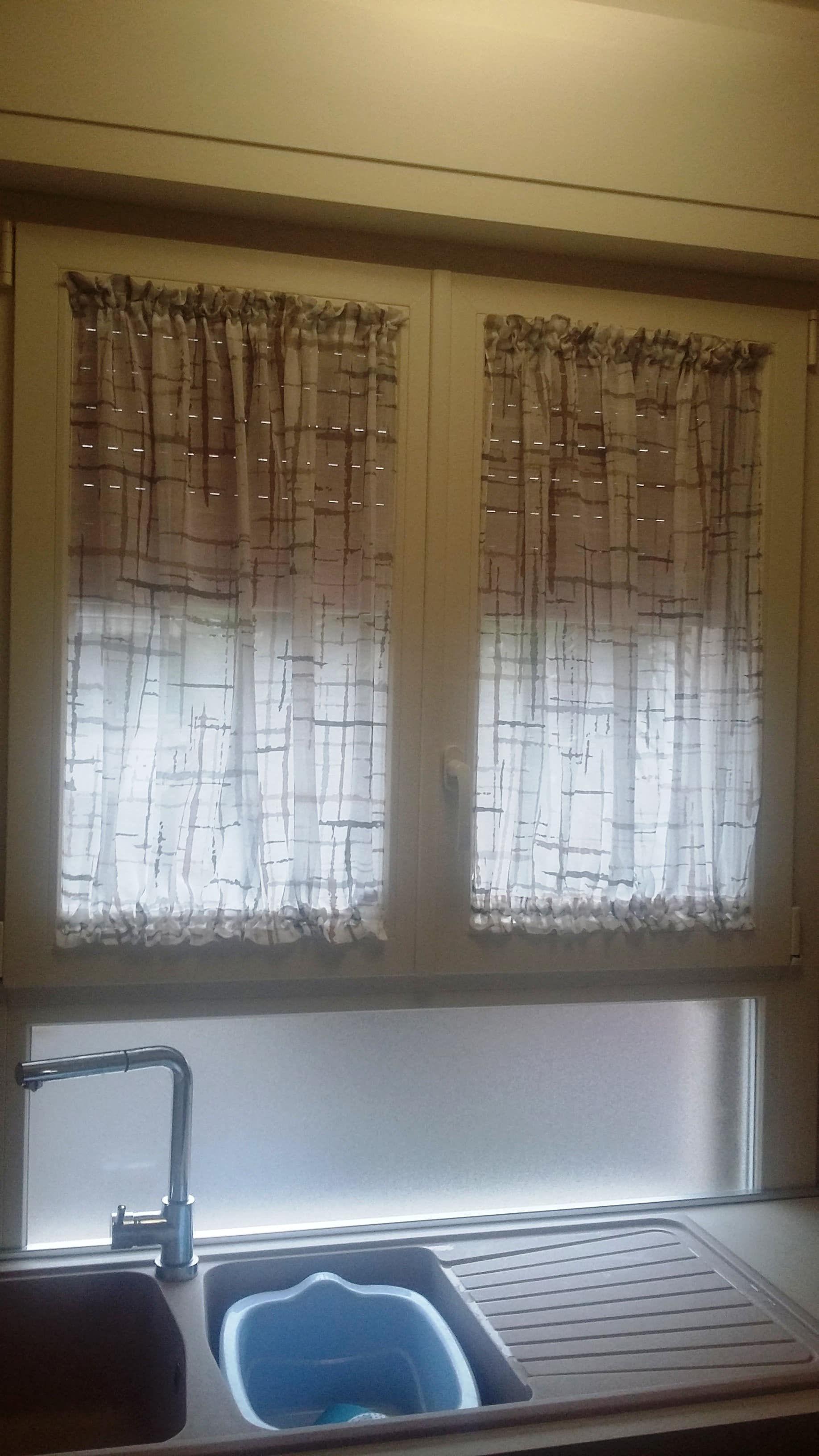 tende a vetro corte per finestra della cucina #tendecucina ...