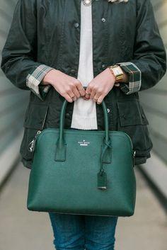 Hunter green for winter.