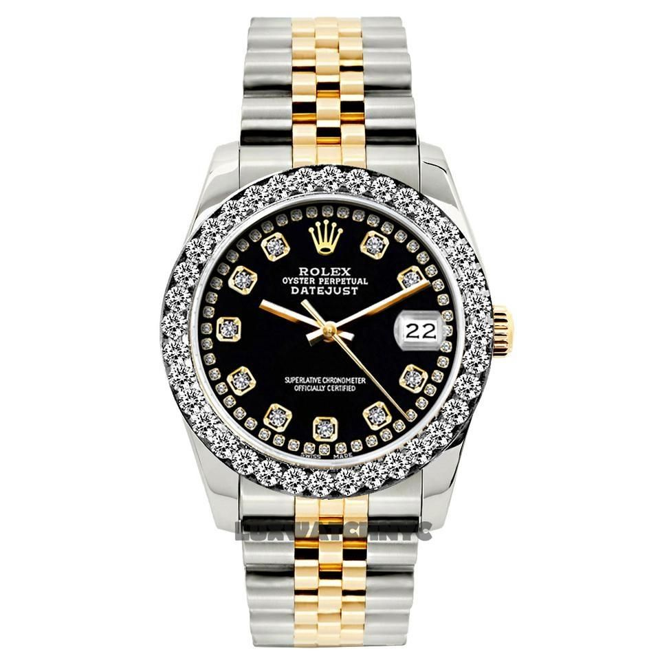 Rolex Black Box W Ladies Datejust Gold S S Diamond W Appraisal Watc In 2020 Rolex Watches Women Rolex Rolex Watches