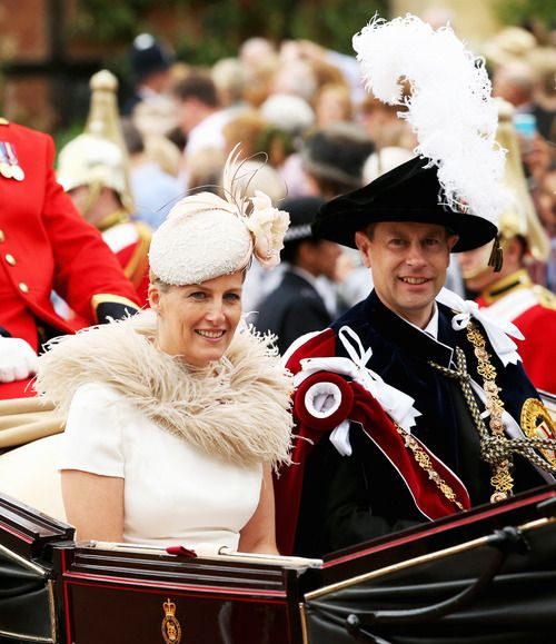 royalwatcher: Order of the Garter Service 2014, June 16, 2014-Countess and Earl of Wessex