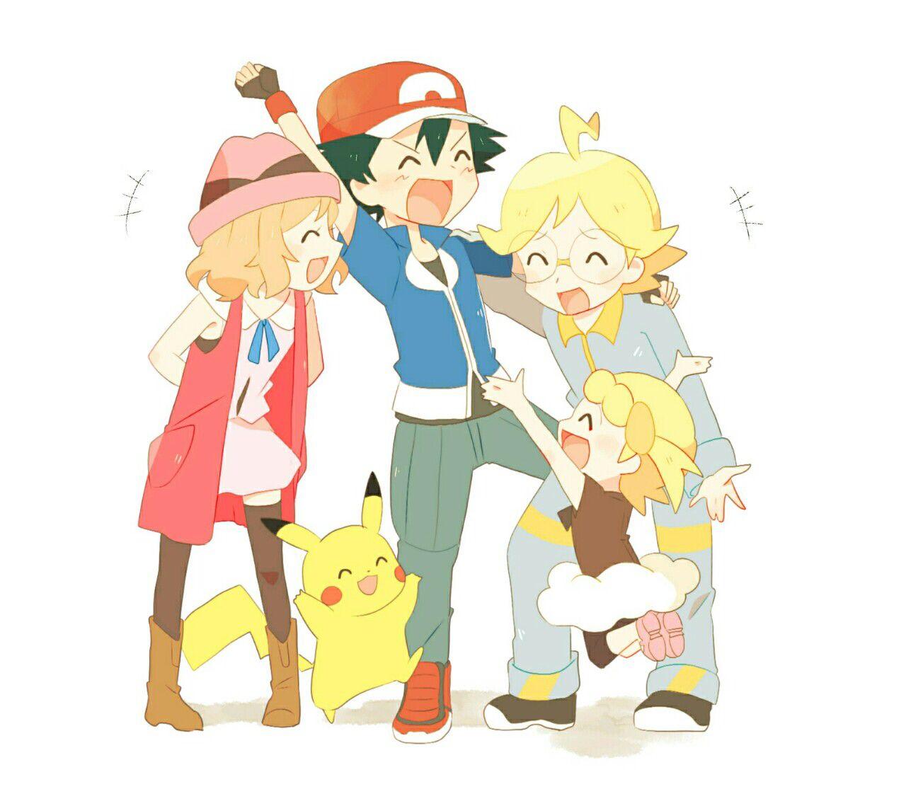 pokémon xy xyz kalos family gang anime serena satoshi ash bonnie