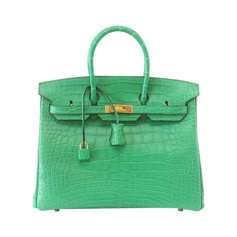 a70a823fe9 Orange Birkin 35cm Hermes Feu Matte Alligator Crocodile Gold Ghw Bag Bnib