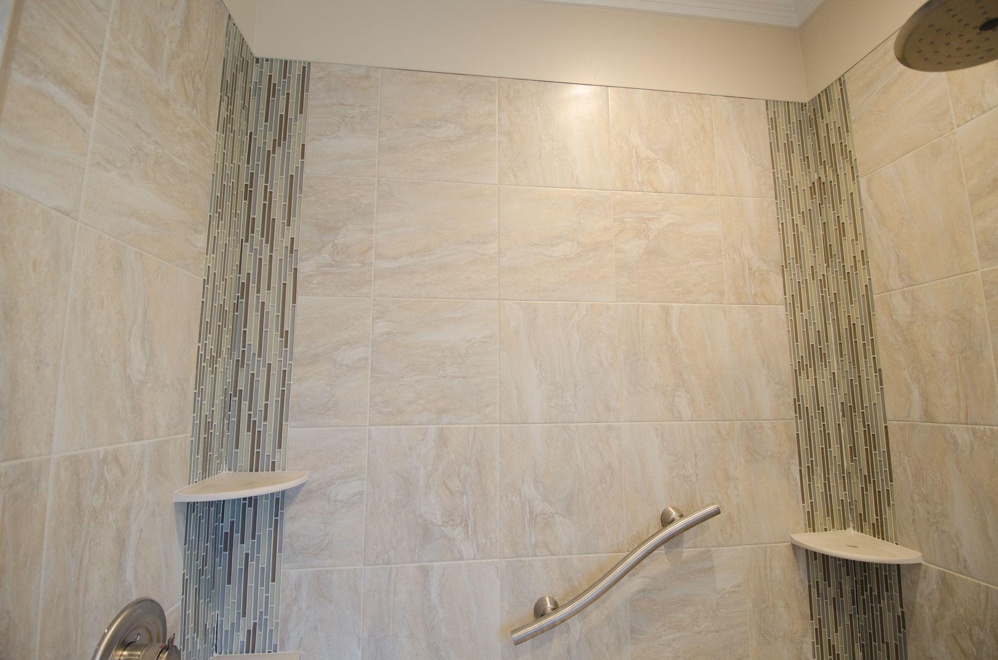 Bathroom Remodel  Walk In Shower  No Threshold Shower
