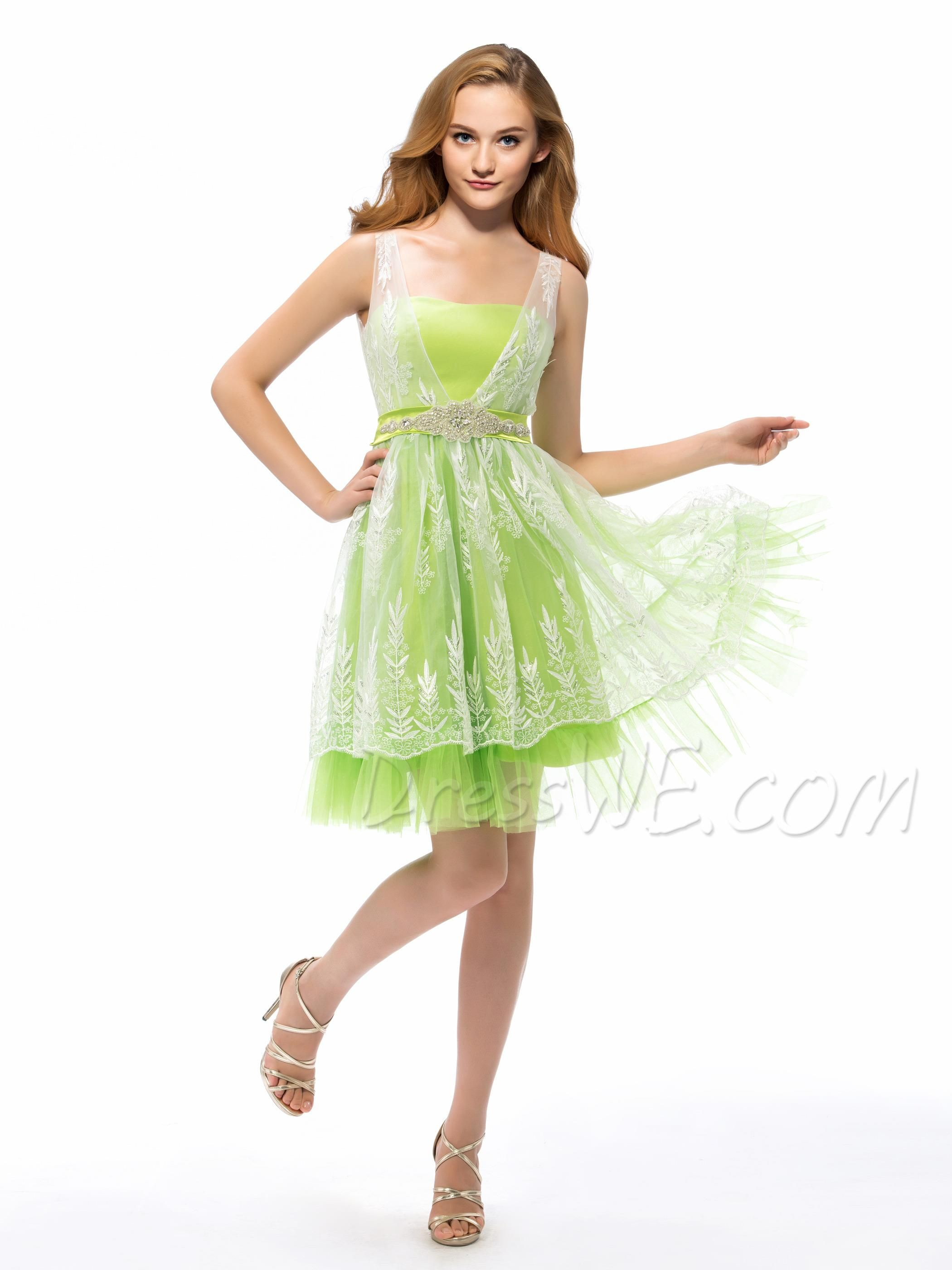 BuyModern Straps Bowknot Back Crystal Homecoming/Sweet 16 Dress   Online, Dresswe.Com offer high quality fashion,Price: USD$102.39