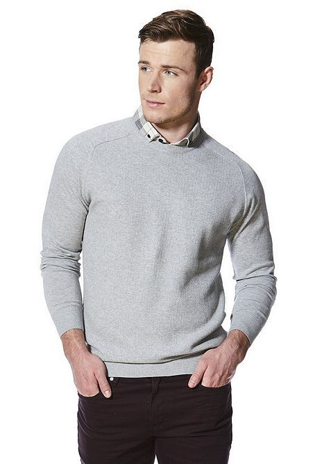 8be3ccaa8d5 Tesco direct: F&F Mock Shirt Layer Jumper | AW18 MOCK NECK | Men ...