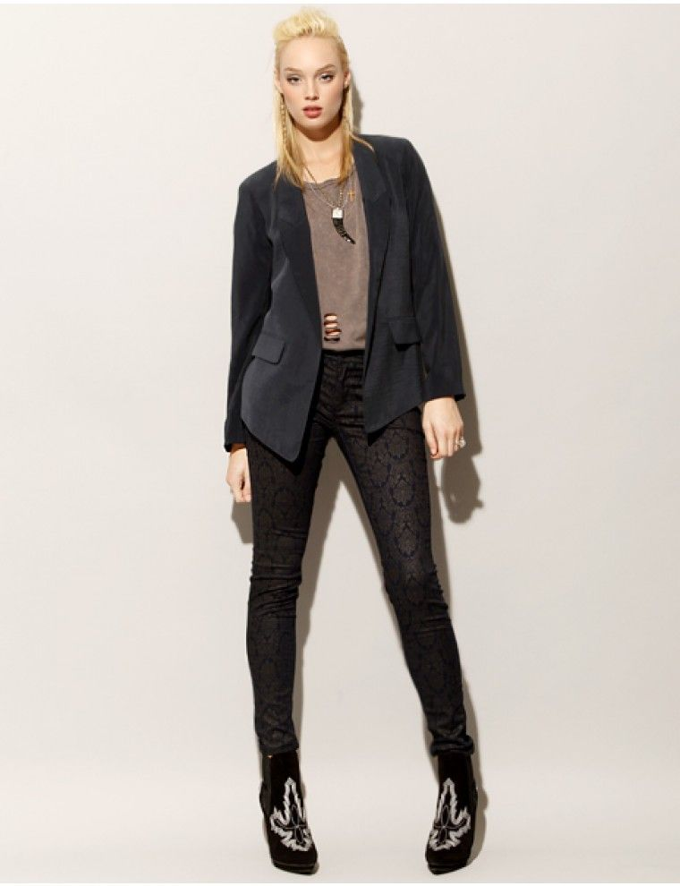 Dark navy blazer [cla1793] - $119.00 : Pixie Market, Fashion-Super-Market -Fashion -Super-Market
