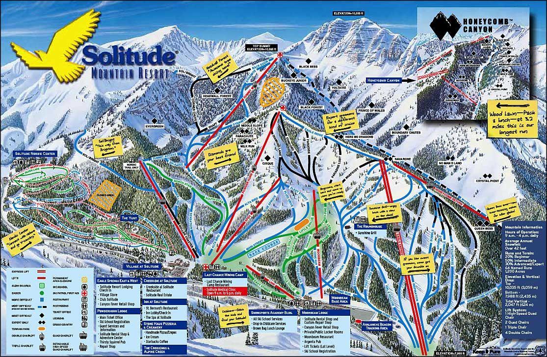 Solitude Utah Map.Solitude Ski Resort Solitude Mountain Resort Solitude Utah