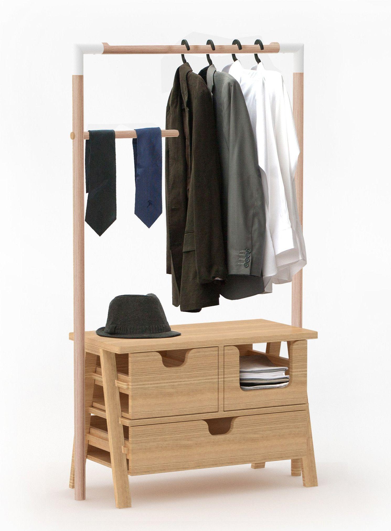 Teak coat rack 7 DAYS by Specimen Editions