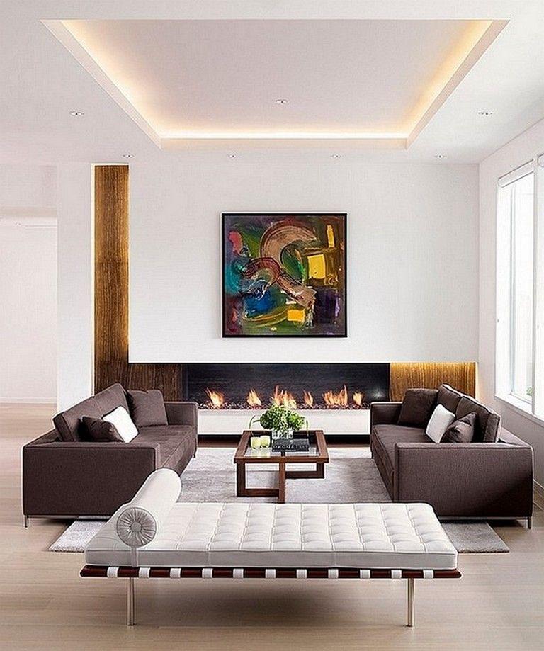 70 Awesome Modern Minimalist Living Room Ideas Ceiling Design Living Room Ceiling Design Bedroom Minimalist Living Room