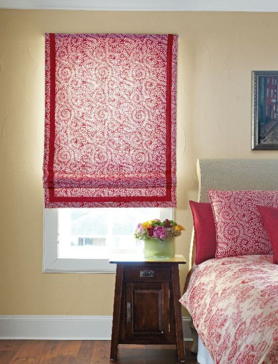 Bedrooms fabric shades pinterest window treatments - Shades of pink for bedroom walls ...
