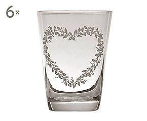 Set di 6 bicchieri in vetro Felicity - d 8/h 10 cm