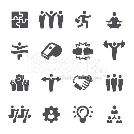 Teamwork Business Icons Leadership Team Building Human Icon Free Vector Art Teamwork