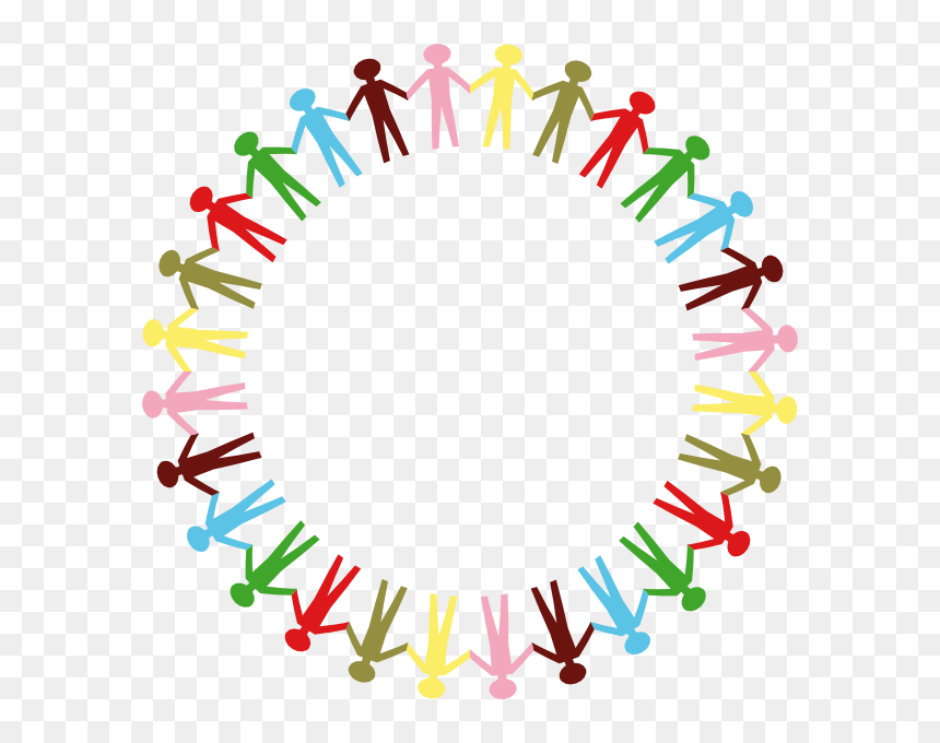 Transparent Teamwork Clipart Png Cartoon People Holding Hands In A Circle Png Download Is Pure And Creative Png People Holding Hands Cartoon People Clip Art
