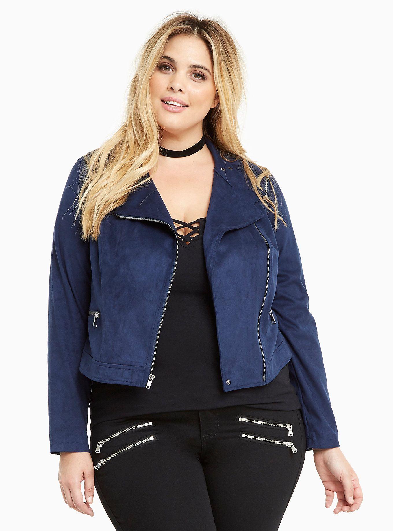 Faux Suede Zip Moto Jacket Moto jacket, Jackets, Suede
