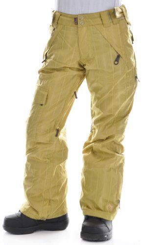 Sessions Smash Snowboard Pants Gold Dobby Womens