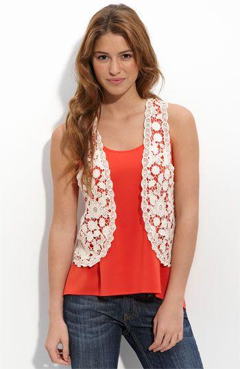 136b0f3c8262b I love the lace vest   What i would like to add to my closet.   Lace ...