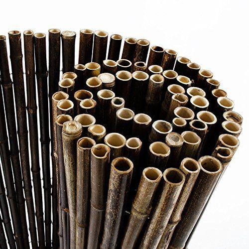 casa pura® Bambus Sichtschutz Sichtschutzmatte aus