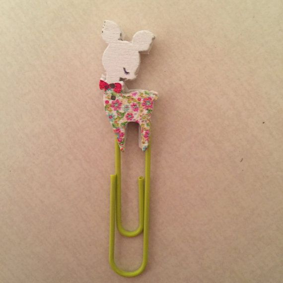Doe baby paperclip bookmark swingclip for by OccasionalObsessions