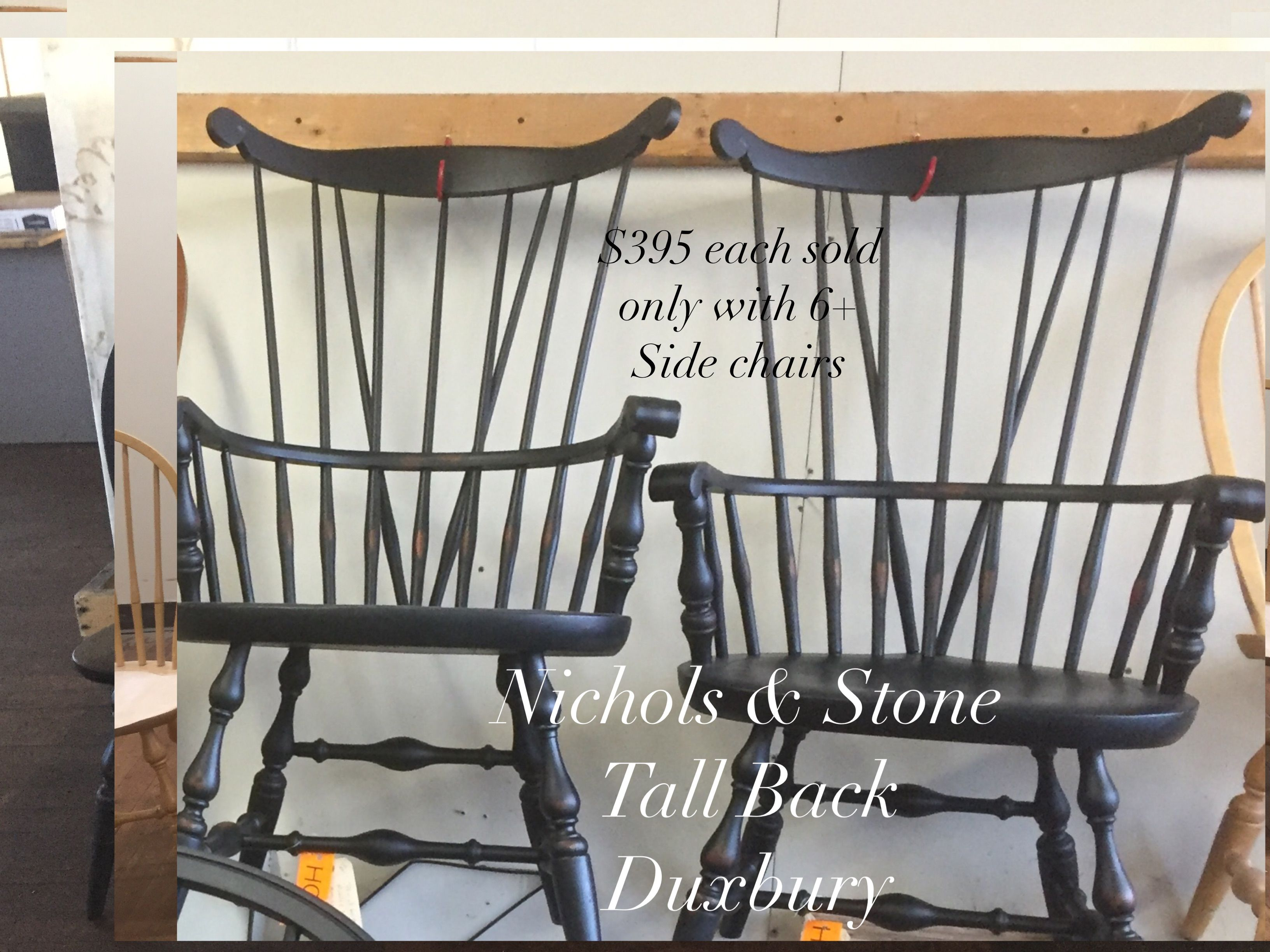 Windsor Chairs Black Pair Of Tall Braceback Windsor Chairs By Nichols And Stone
