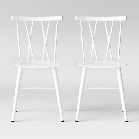 Fabulous Set Of 2 Becket Metal X Back Dining Chair Black Project 62 Gmtry Best Dining Table And Chair Ideas Images Gmtryco