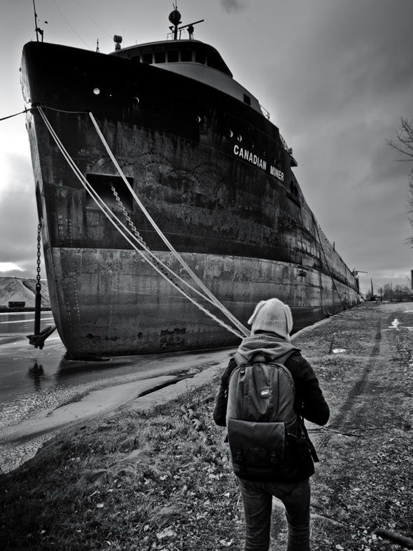 Canadian Miner - taken at the ship breakers in Port Colborne, Ontario