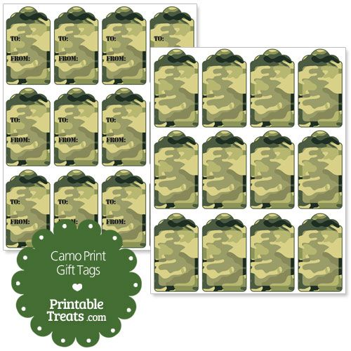 Miltary Army Camo Pattern  Party Bag Treat 16 Bags