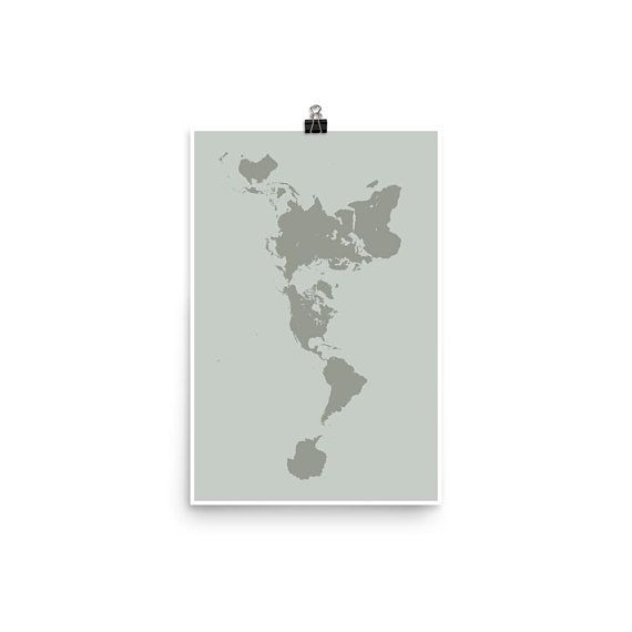 Dymaxion map poster buckminster fuller map projection world map dymaxion map poster buckminster fuller map projection world map wall art projection mapping gumiabroncs Images
