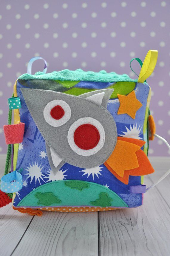 ACTIVITY CUBE Baby toys Quiet cube Busy block Activity block Soft cube Montessori toy Sensory Toys t #crochetelements