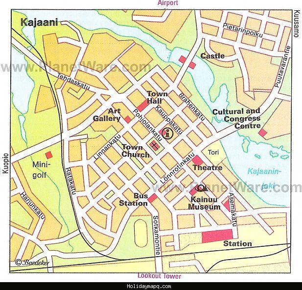 awesome Map of Kajana Kajaani Holidaymapq Pinterest Coach