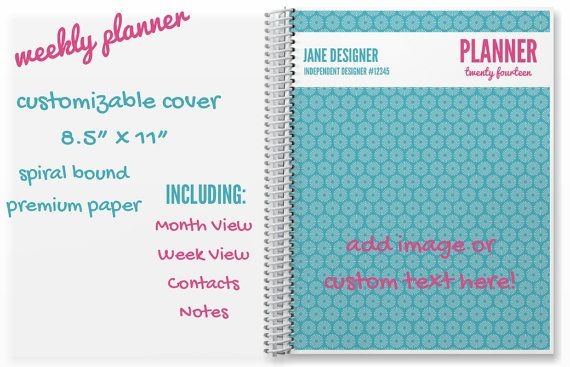 Weekly Planner with Contacts & Notes  Origami by SassyOrganizers, $40.00