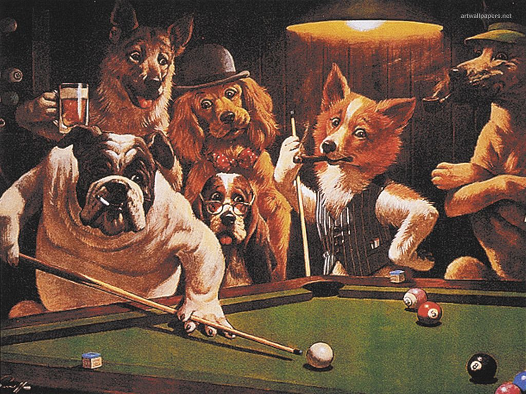 Dogs Playing Poker Picture Price