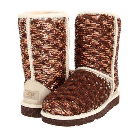 6cec45c1671 Copper sequins uggs Lightly used but still in great condition! UGG ...