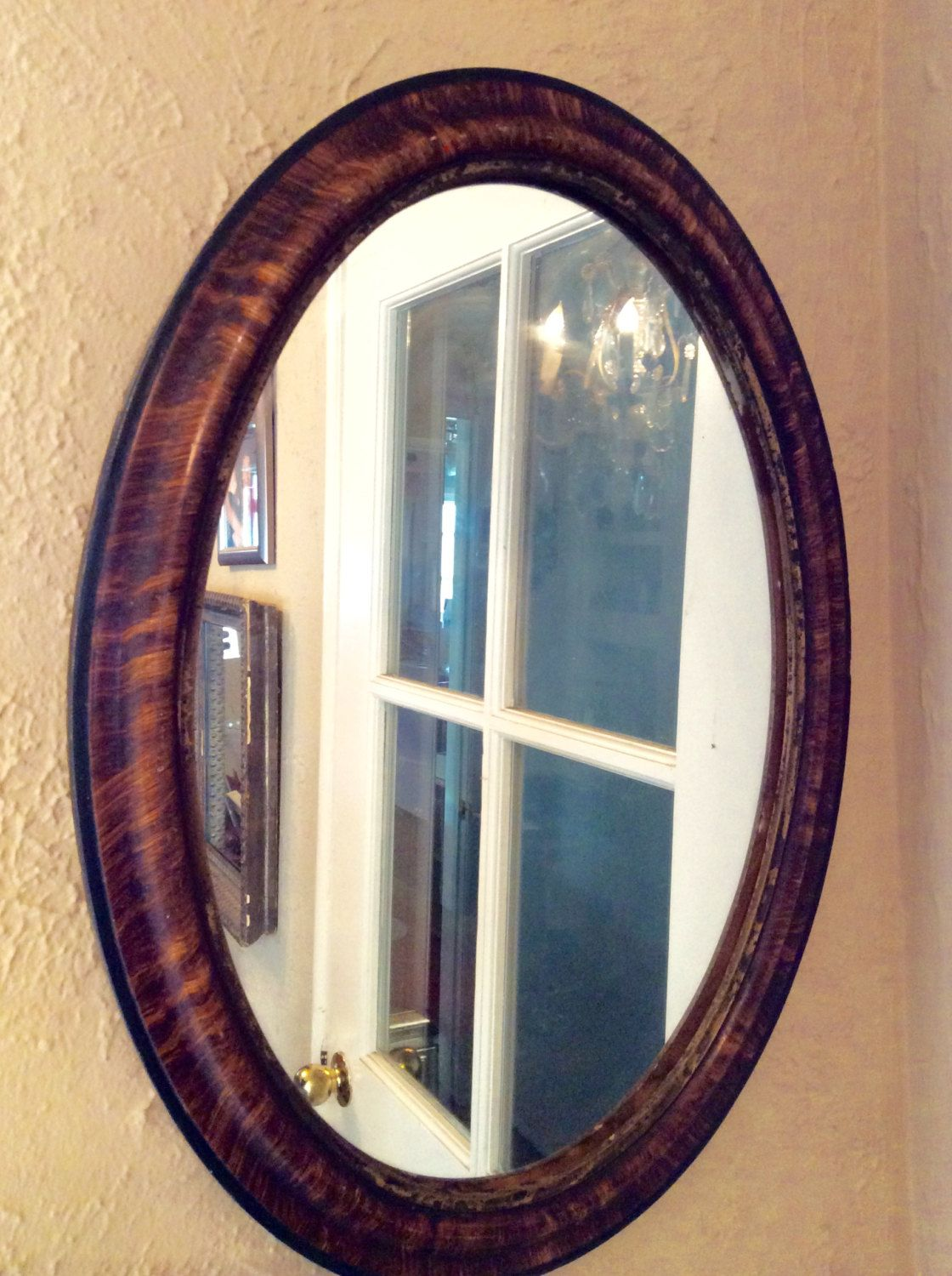 Oval Mirror Wood Frame Antique Oval Wood Frame Mirror Victorian Style Home Decor