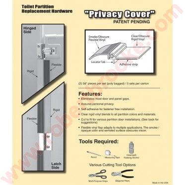 Privacy Covers - Bathroom stall door stop