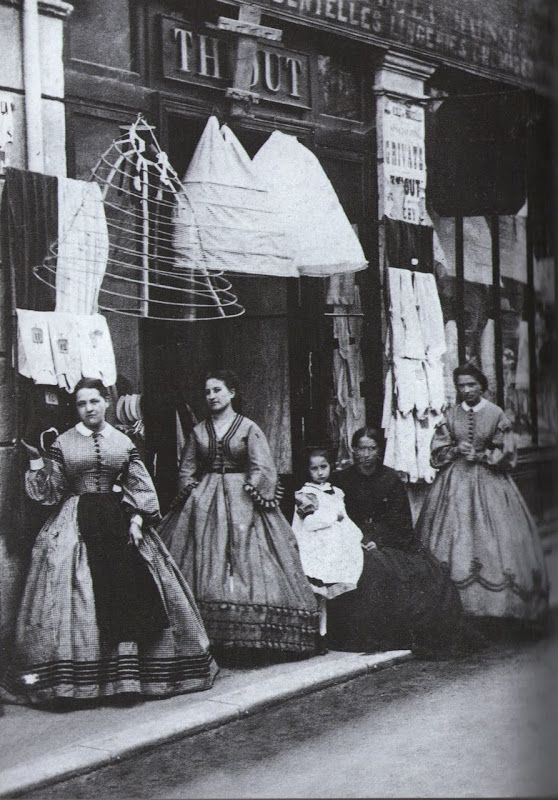 The Crinoline shop -1880 by Atget