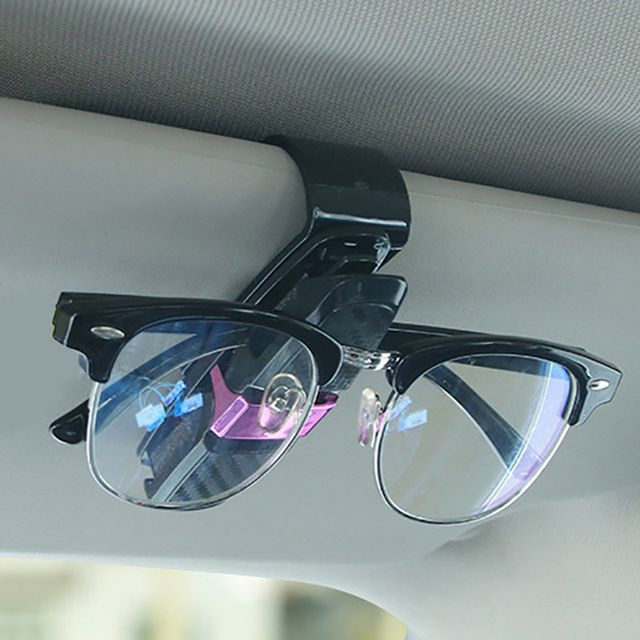 2f0ae62f4bb Car Sunglasses Holders Ticket Card Clip Glasses Mount Car Sun Visor  Eyeglasses Case In Car Interior Accessory Auto Fastener Cip Review