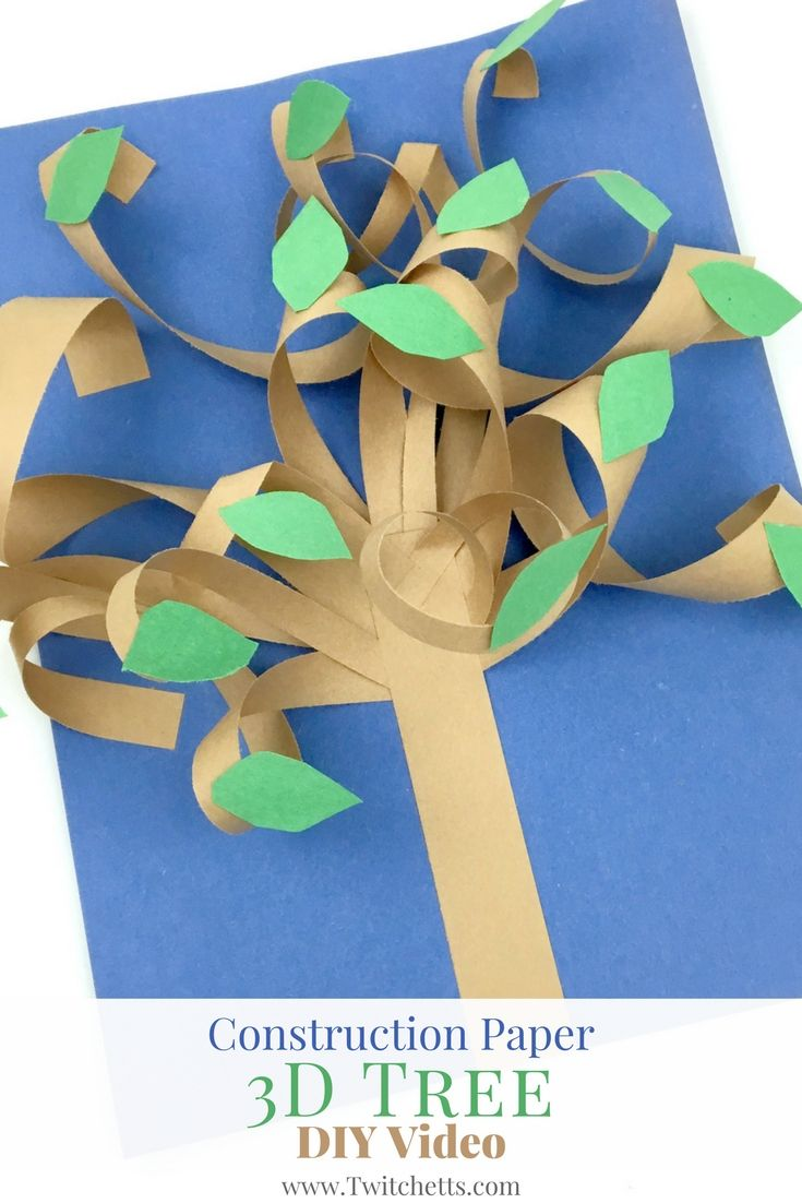 Construction Paper 3d Tree Video Preschool Pinterest Paper
